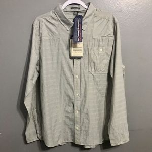 NWT TOAD & CO Trace LS Button Up Striped Shirt XL